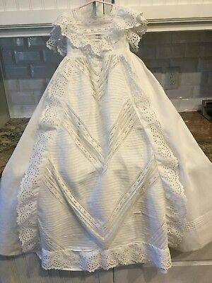 Antique Victorian Baby Christening Gown Dress