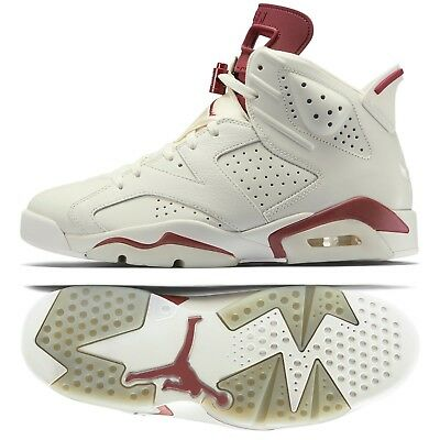 b4fd77d078c Nike Air Jordan 6 VI Retro 384664-116 Off White/Maroon Men's Basketball  Shoes