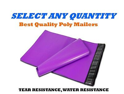 """12x15.5 PURPLE POLY MAILERS Shipping Envelopes Self Sealing Mailing Bags 12""""x15"""""""