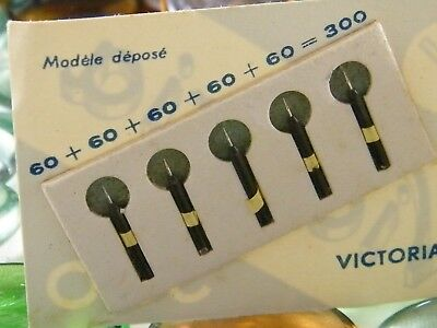 ♫ 5 -nadeln Lese- Nadel VICTORIA 78t Grammophone o 1,4 mm Pick-up Rekord ♫