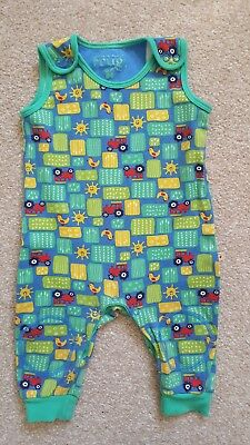 Frugi sunny farm kneepatch dungarees 6-12m EUC FREE DELIVERY!