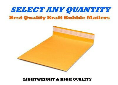 """#00 5x10 KRAFT BUBBLE MAILERS SHIPPING MAILING PADDED BAGS ENVELOPES 5"""" x 9"""""""