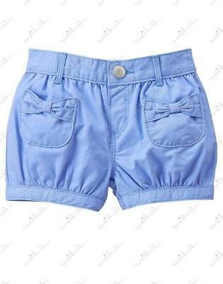 NWT Gymboree Bubble Bow Shorts 2T Periwinkle Blue Twill Girls