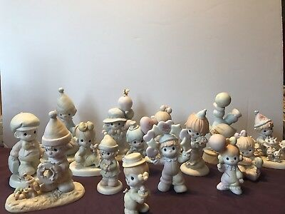 LARGE LOT OF PRECIOUS MOMENTS CLOWNS! 15 Pieces, mint condition!!