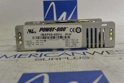 MAP55-4001 Power One  REV  AS  Power Supply 100-240v in  12 24v out