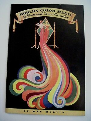 """1937 """"Modern Color Magic"""" Booklet for """"Diamond Tints & Dyes"""" by """"Mae Martin""""  *"""