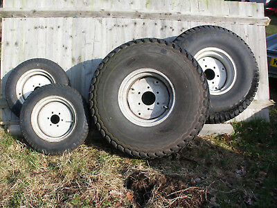 COMPACT TRACTOR TURF tyres - fits Ford/Shibaura 4wd, set of 4