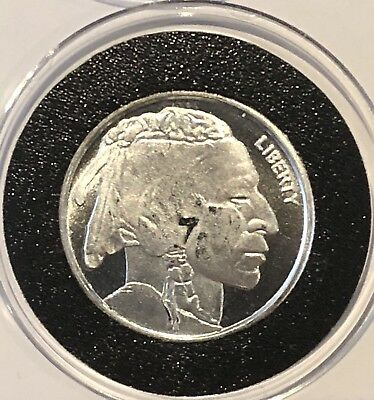 Indian Head Buffalo Bison Coin 1/4 Troy Oz .999 Fine Silver Round Collectible