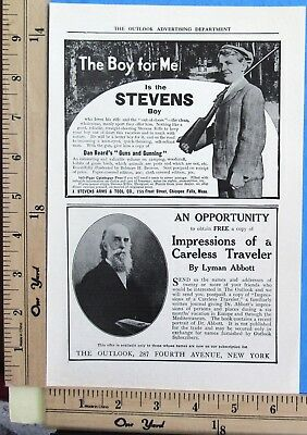 1909 STEVENS Favorite single-shot rifle gun THE BOY FOR ME Vtg Print Ad 8291