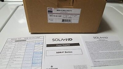 NEW in BOX SOLA/HEVI-DUTY DC Power Supply,24VDC,10A,47-63Hz, SDN10-24-100P