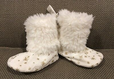 Pottery Barn Kids booties, size 3- 6 months