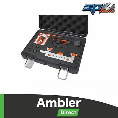 SP Tools Metric or SAE Double Flaring Tool Kit Brake Lines Pipe Cutter - SP63015