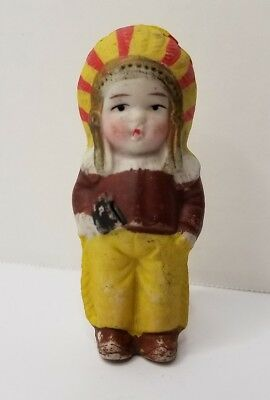 Vintage Bisque Doll Indian Frozen Charlotte Type Japan