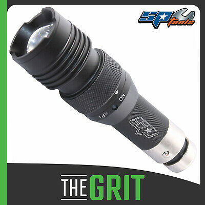 SP Tools LED Adjustable Beam Rechargeable Flashlight Torch Fits 12v Car Socket
