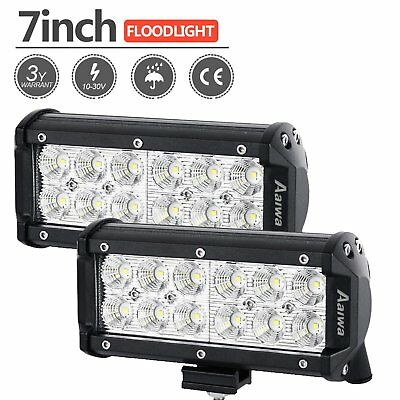 """7"""" inch 36W CREE LED Work Light Bar Flood Beam Driving 4WD Offroad Truck Jeep"""
