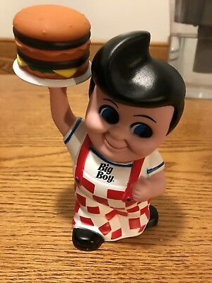 2010 Vintage Frisch's Bob BIG BOY Burger Advertising Toy Rubber Coin Piggy Bank