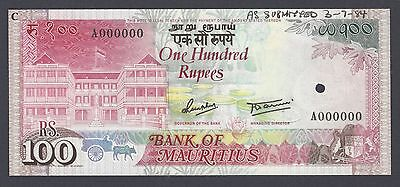 Mauritius 100 Rupees 1984 Unissued Pick Unlisted Specimen Uncirculated