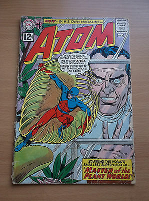 Dc: The Atom #1, 1St App Of Plant Master/maya, Key Book, 1962, Gd/vg (3.0)!!!