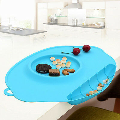 One-piece Mat Baby Kids Table Silicone Food Dish Placemat Plate Bowl Home Tool