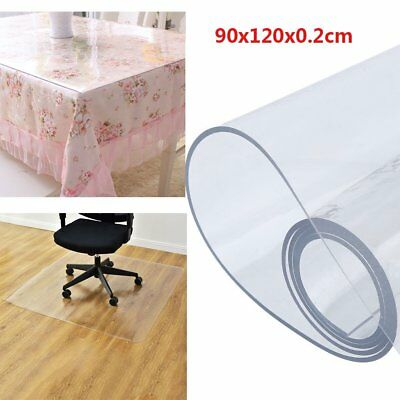 90x120x0.2cm Frosted Hard Floor Protector Mat Office Chair PVC Plastic Non Slip
