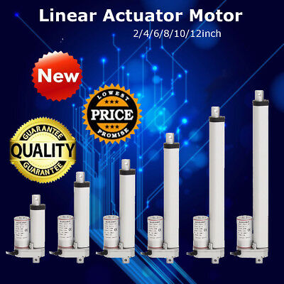 DC 12V 750N Linear Actuator Motor For Auto Car RV Electric Door Opener 2-18'' UK