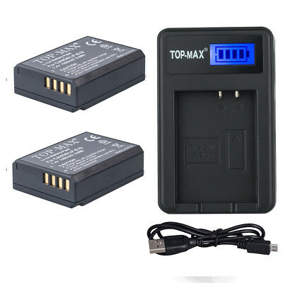 2X LP-E10 Battery + USB Charger for Canon REBEL T3 T5 T6 EOS 1100D 1200D 1300D