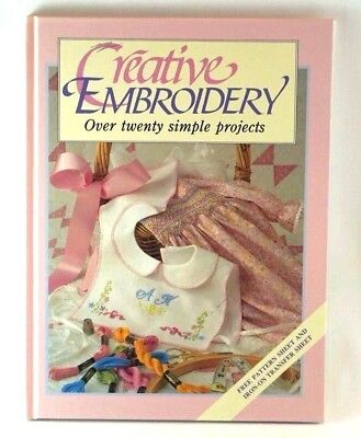 Creative Embroidery Pattern and Iron-On Transfer Sheets Hard Cover 1991 Edition