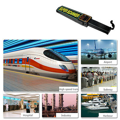Portable Handheld Metal Security Detector Super Safety Scanner Wand Airport UK..