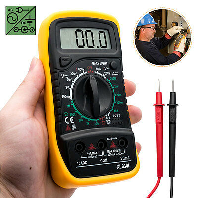 LCD Digital Multimeter Voltmeter Current Voltage Tester Circuit Checker Buzzer /