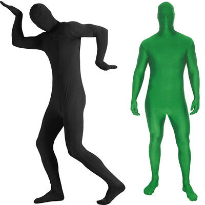 Adult Men Women Morph Cosplay Spandex Suit Zentai Second Skin Party Costume W7E6