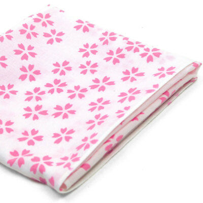 Japanese Tenugui Handkerchief Hand Dyed Fabric - Sakura Cherry Blossoms