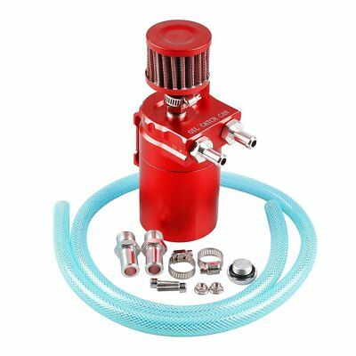 Universal Aluminum Oil Catch Tank Catch Reservoir Car Can Breather Kit - Red MAX