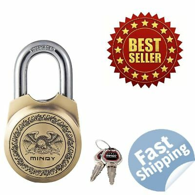 NEW Mindy Antique Padlock with Keys Vintage Look Heavy Duty Chain Lock A15-65