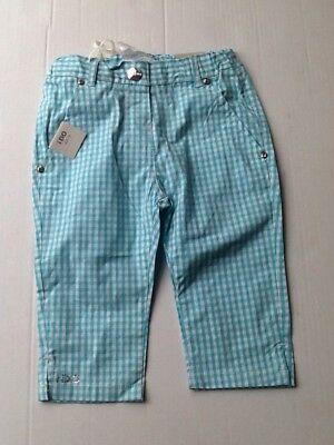 BNWT iDo Girls Gingham Checked Capri Cropped Trousers Age 3 Years 36 Months l561