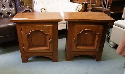 Vintage French Country House Pair Of Bedside Cabinets - (Cobbxc1)