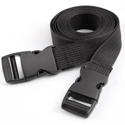 2Pcs Black Adjustable Nylon Travel Camping Luggage Tent Bind Band Strap