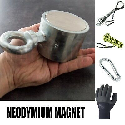 NEW Neodymium SUPER MAGNET METAL DETECTOR Fishing Recovery TREASURE + GIFT!!!