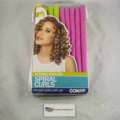 Conair Flexible Rollers Spiral Curls For Soft Curls That Last - 18 Count
