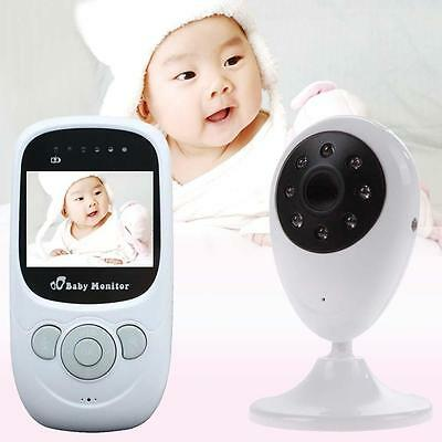 Wireless 2.4Ghz Digital LCD Baby Monitor Camera Night Vision Audio Video EU AC