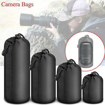 Waterproof Shockproof DSLR Camera Lens Cover Soft Protector Carry Pouch Bag Case