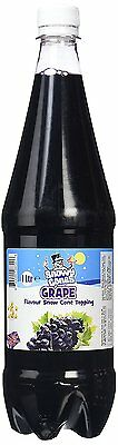 Snow cone Grape 1ltr bottle of authentic Shave Ice Syrup not slush SnowyCones™