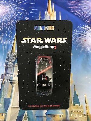 NEW Disney Parks Star Wars Darth Vader Red Magic Band 2 MagicBand Link Later