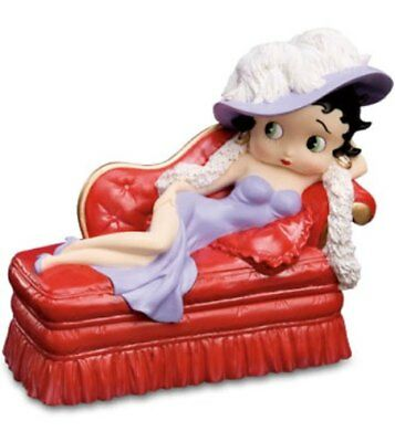 Vintage Betty Boop Chaise Lounge Music & Trinket Box San Fransnsco Music Box Co.