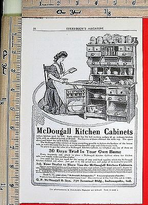 1905 McDOUGALL kitchen cabinets Indianapolis IN home decor Vtg Print Ad 5005