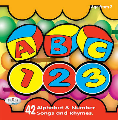 ABC 123 CD  Alphabet & number songs and rhymes  NEW  Sealed