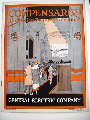 """Fantastic 1920 """"General Electric"""" Ad Catalog - Motion Pictures w/ Deco Graphics*"""