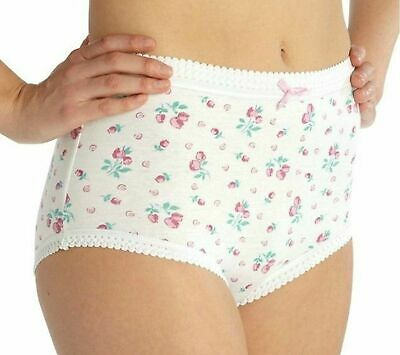 Ladies Womens Full Mama Briefs Underwear Cotton Knickers Pants Lingerie 3 Pack