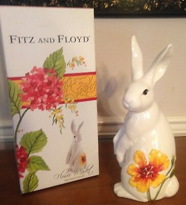 "Fitz and Floyd ""Flower Market"" Easter Bunny Rabbit Figurine Spring  New in Box"