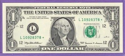 1999 $1.00 FRN STAR NOTE San Francisco District L* block Run 4 L10928378* UNC