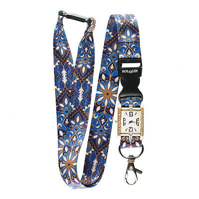 MULTICOLOUR ORNAMENT Lanyard integrated NURSE FOB WATCH Beautiful Neck Strap